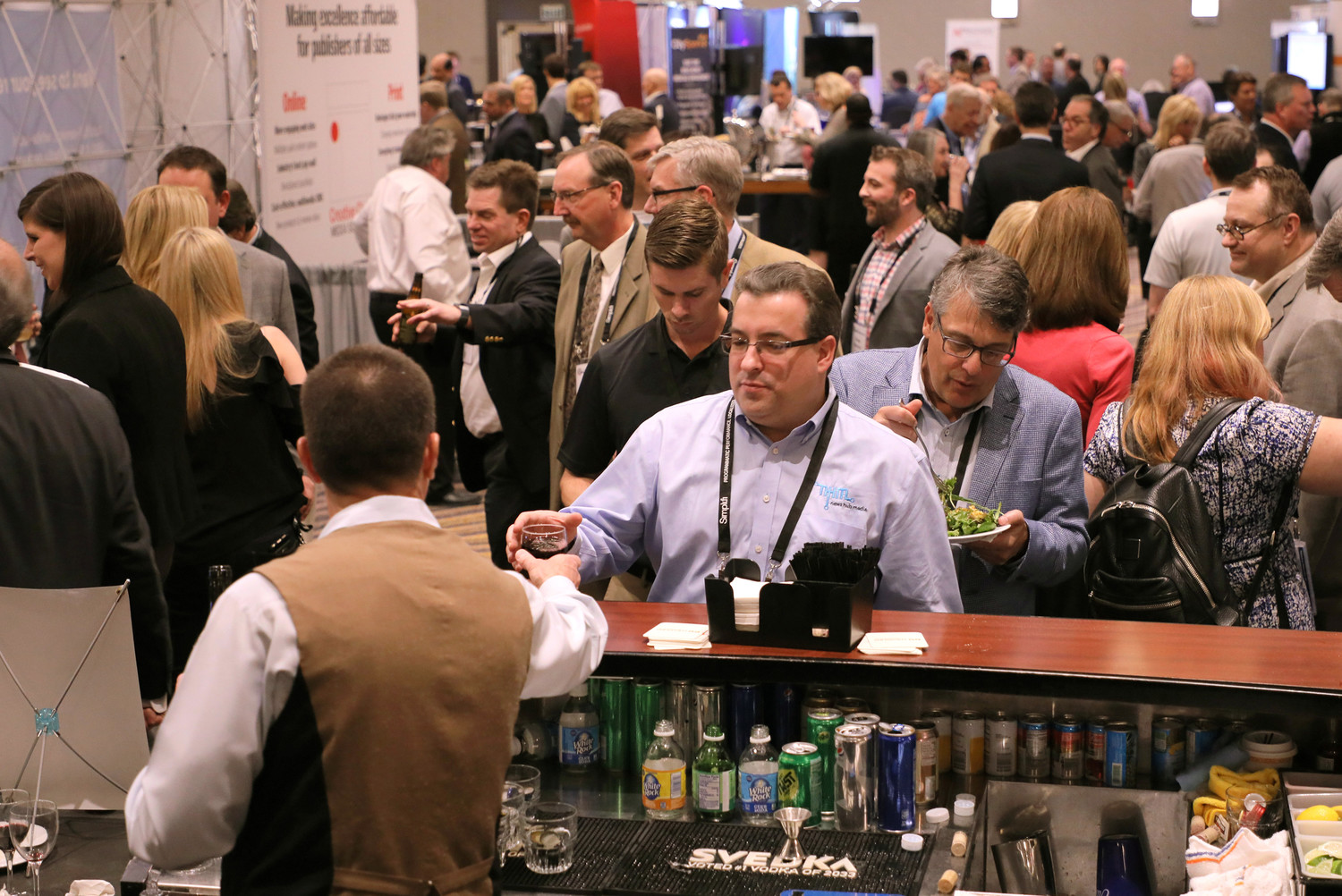 Monday evening Welcome Reception offered time to network with our sponsors and exhibitors