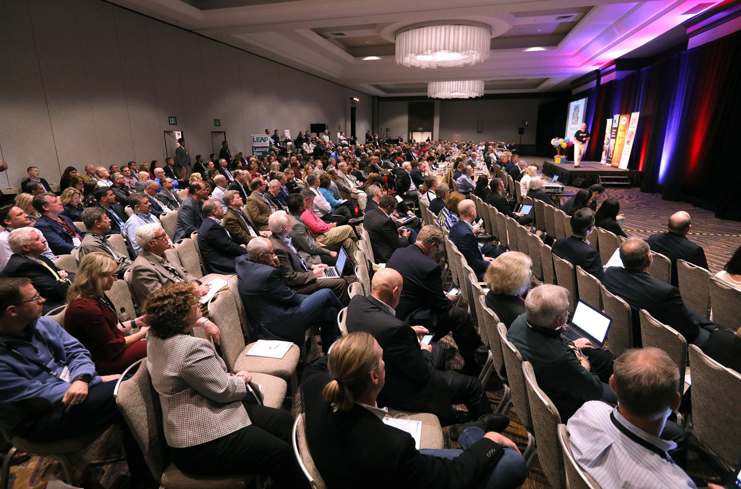 A record-breaking crowd at this year's Mega-Conference!