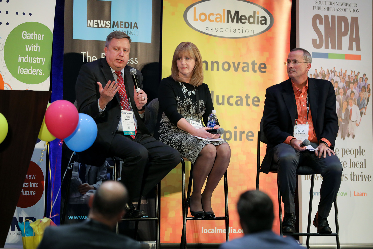 Travis Quast of the Twin Falls Times-News joins Jane Elizabeth of API and David Chavern of the News Media Alliance on stage: Real Tools for Combatting Fake News
