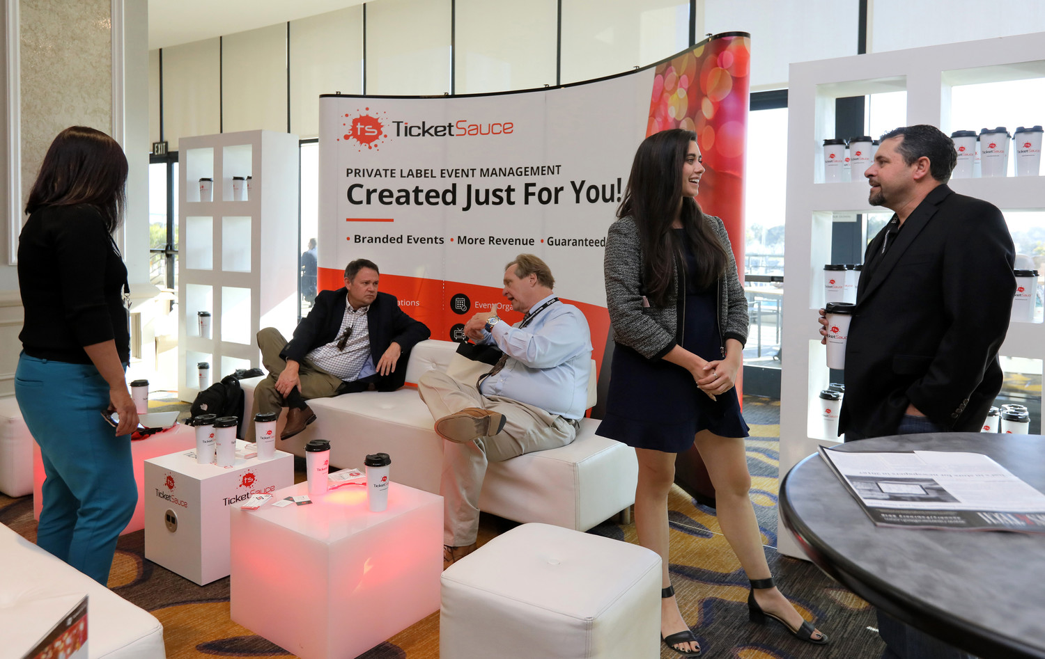 Ticket Sauce sponsored a Lounge at the Mega-Conference