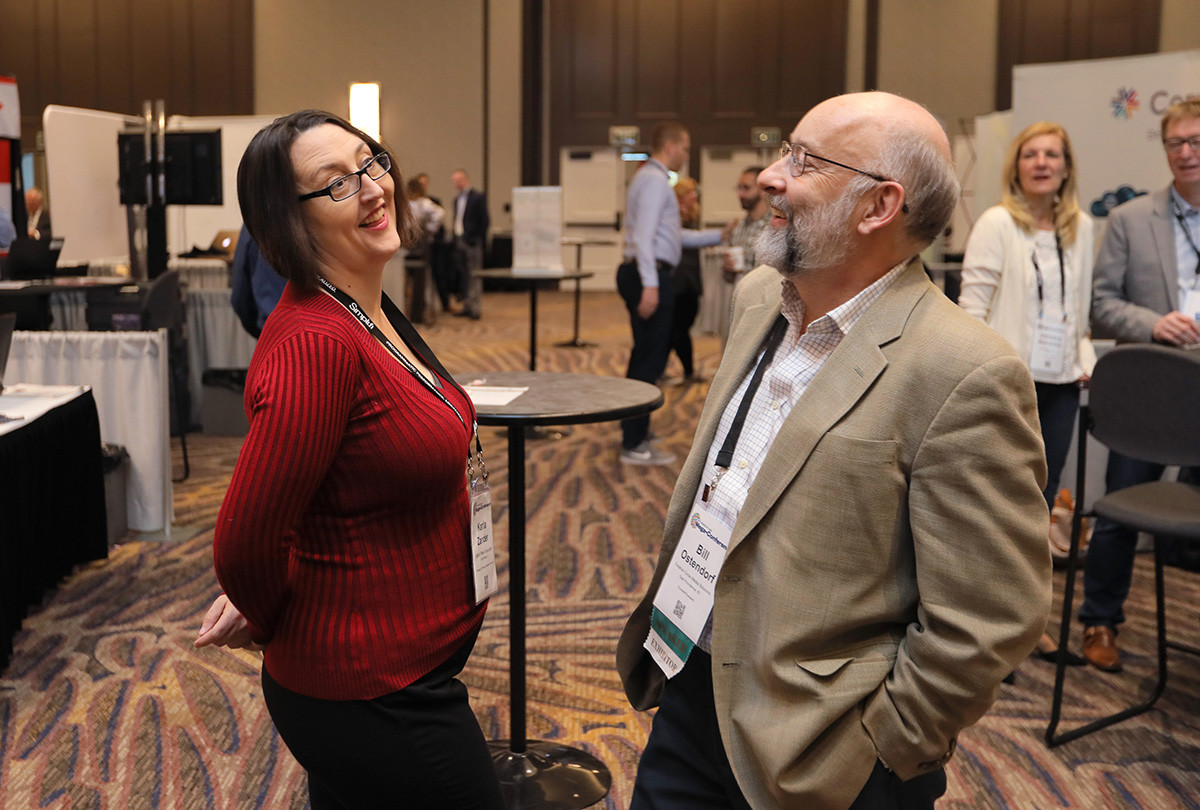 Karla Zander of Inland Press Association and Bill Ostendorf (Creative Circle Media Solutions)