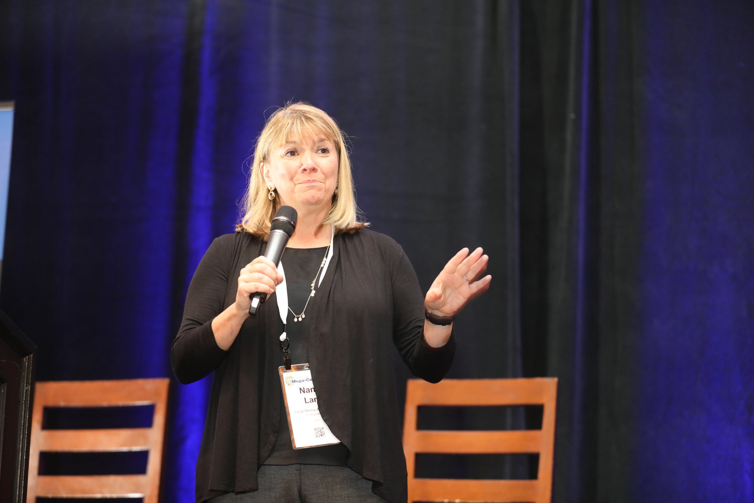 Nancy Lane, CEO of Local Media Association, at the 2020 Mega-Conference. (Photo by Bob Booth)