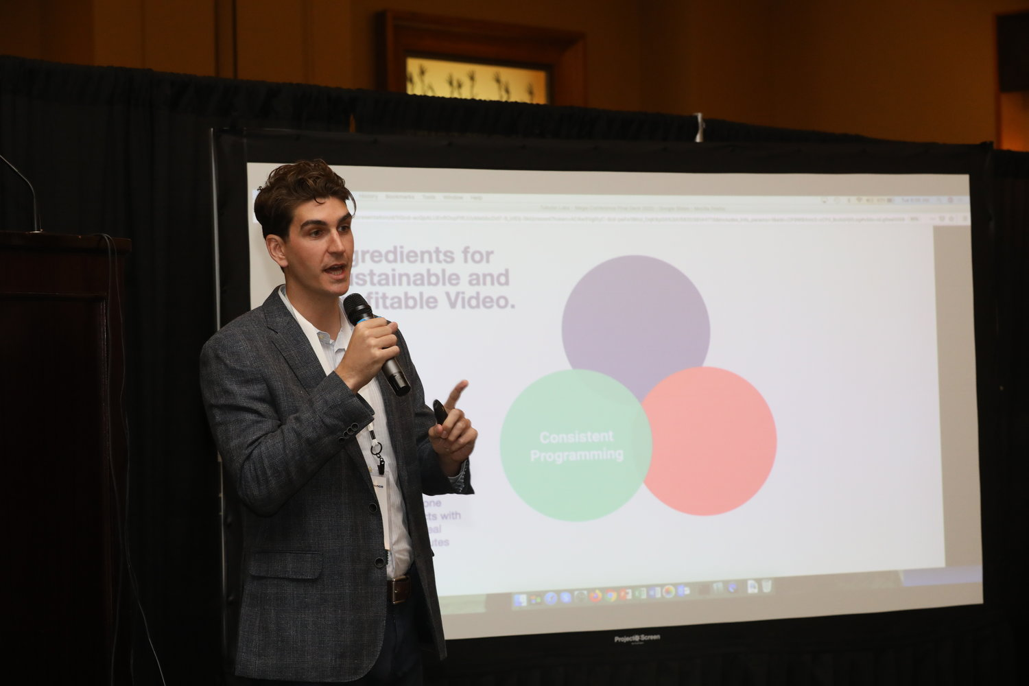 "Jason Whitney of Tubular Labs on ""The Age of Video"" at the 2020 Mega-Conference. (Photo by Bob Booth)"