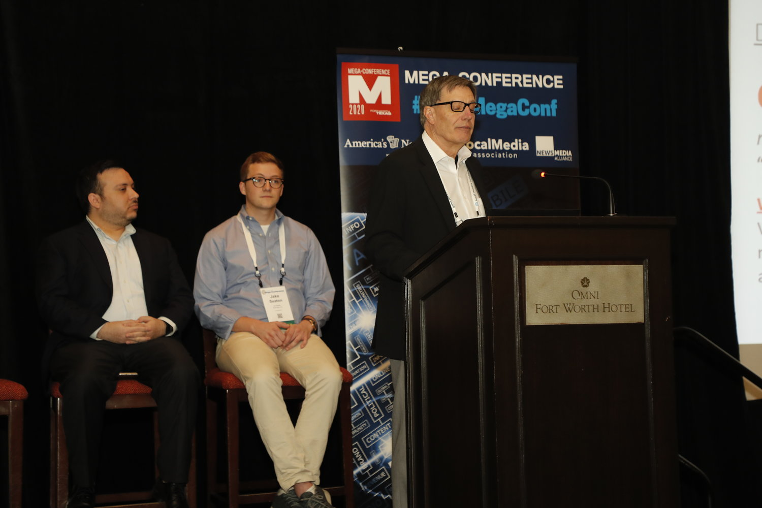 "Local News: Under-the-radar Innovations at and for Community Papers"" at the 2020 Mega-Conference. (Photo by Bob Booth)"