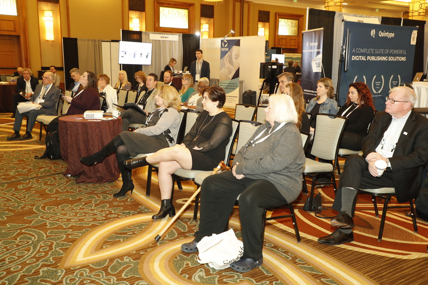Solutions Stage: Tuesday photos of the 2020 Mega-Conference 2020 at the Omni Hotel in Fort Worth, Texas, Feb. 18, 2020. (Photo by Bob Booth)