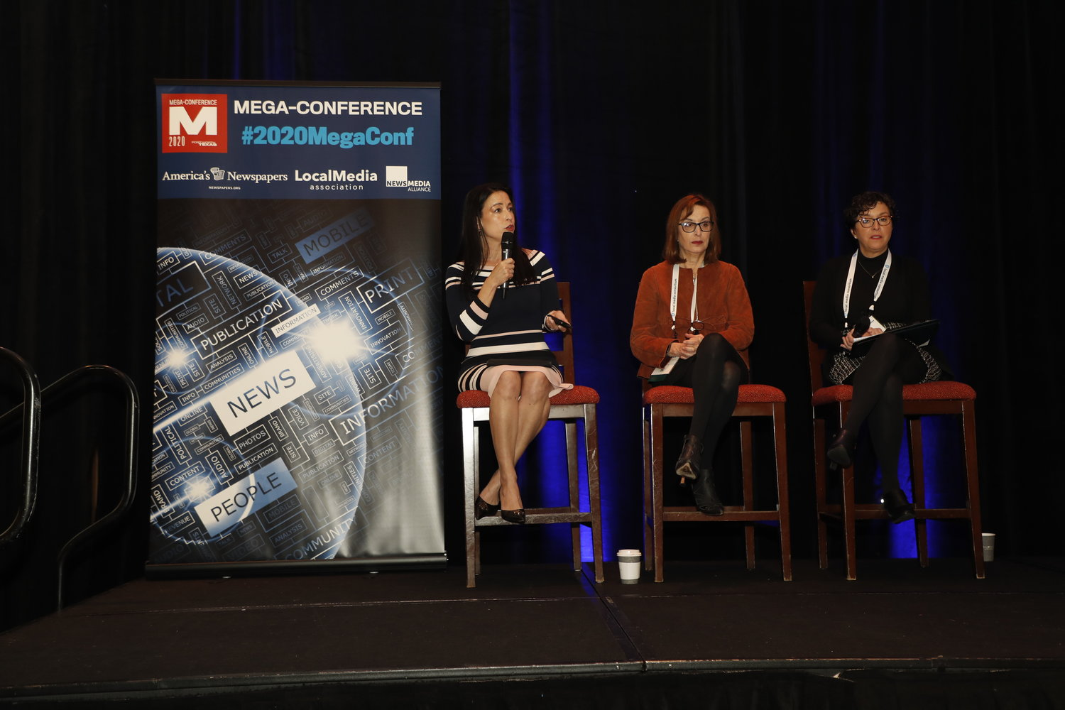 Mi-Ai Parrish, Julia Wallace and PJ Browning: How Women Leaders are Transforming Newspapers. Tuesday, Feb. 18, at the 2020 Mega-Conference. (Photo by Bob Booth)