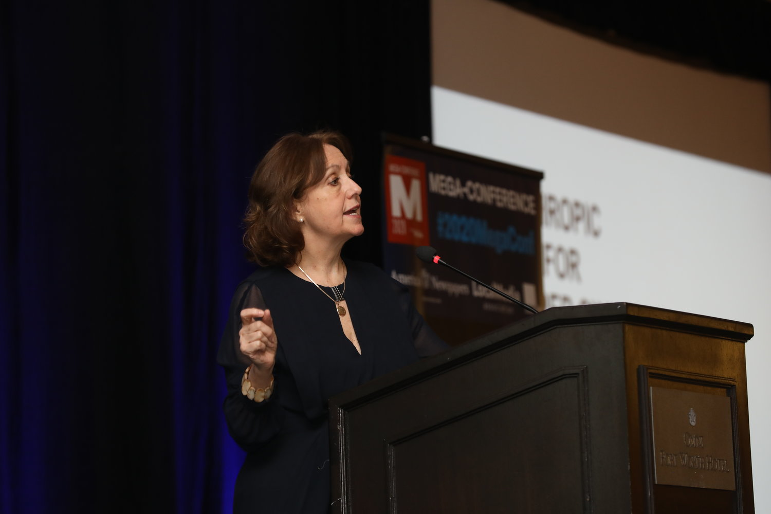 Jennifer Preston of the Knight Foundation at the 2020 Mega-Conference. (Photo by Bob Booth)