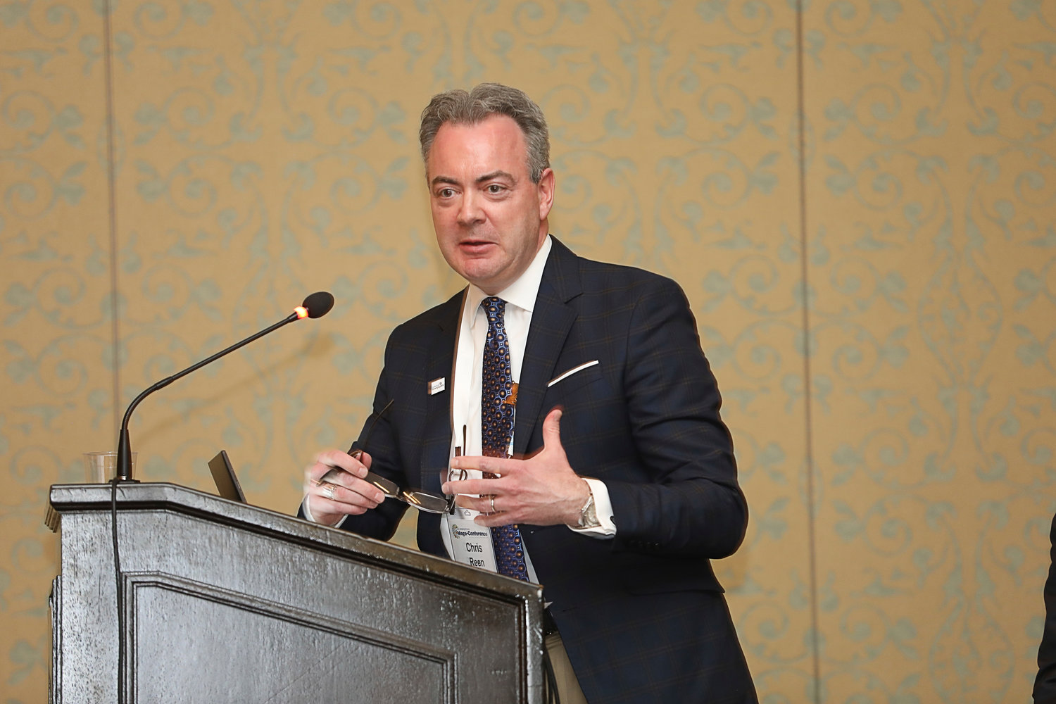 Chris Reen, publisher of The Gazette in Colorado Springs and president of America's Newspapers, at the 2020 Mega-Conference. (Bob Booth).