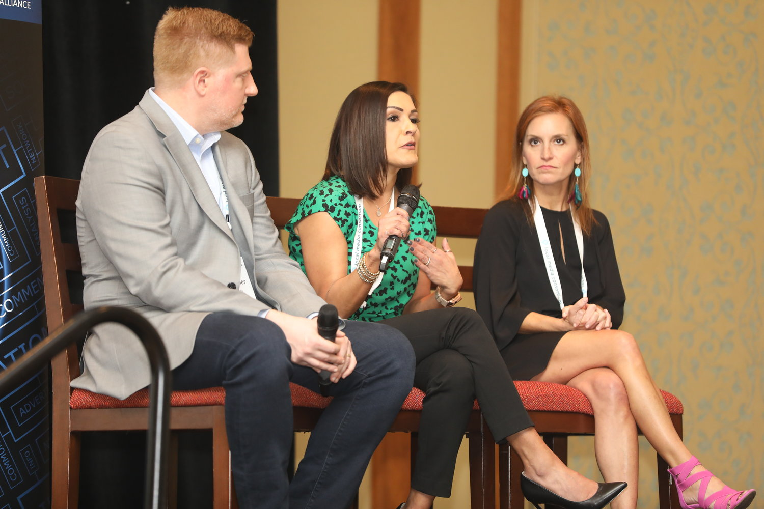 Branded Content: The Business of Storytelling — Eric Brandner, Michelle Vielma and Robin Gruen at the Mega-Conference. (Photo by Bob Booth)