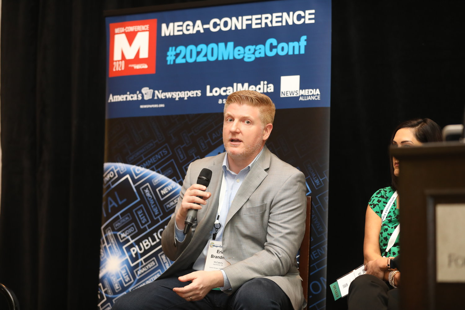 Eric Brandner at the 2020 Mega-Conference. (Photo by Bob Booth)