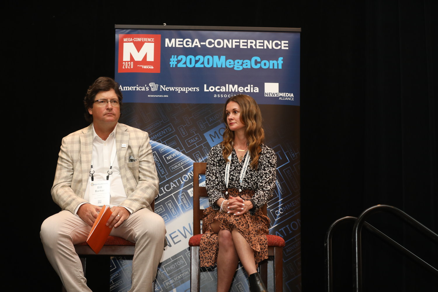 Bill Barker and Jessica Baldwin at the 2020 Mega-Conference. (Photo by Bob Booth)