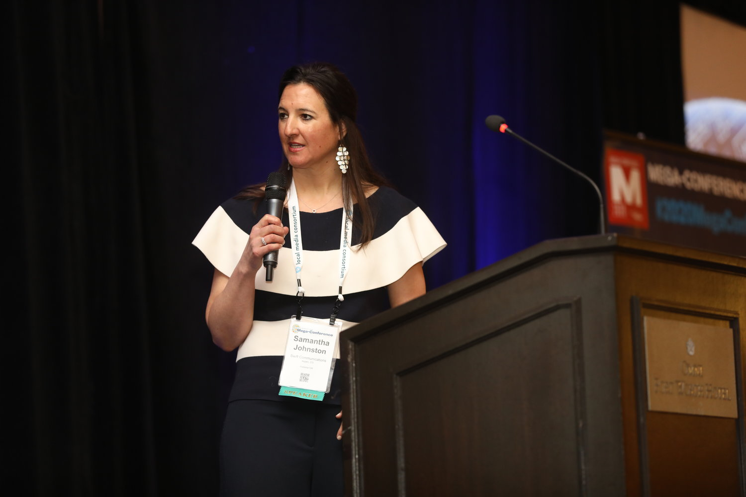 Samantha Johnston, publisher of The Aspen Times, at the Mega-Conference. (Photo by Bob Booth)