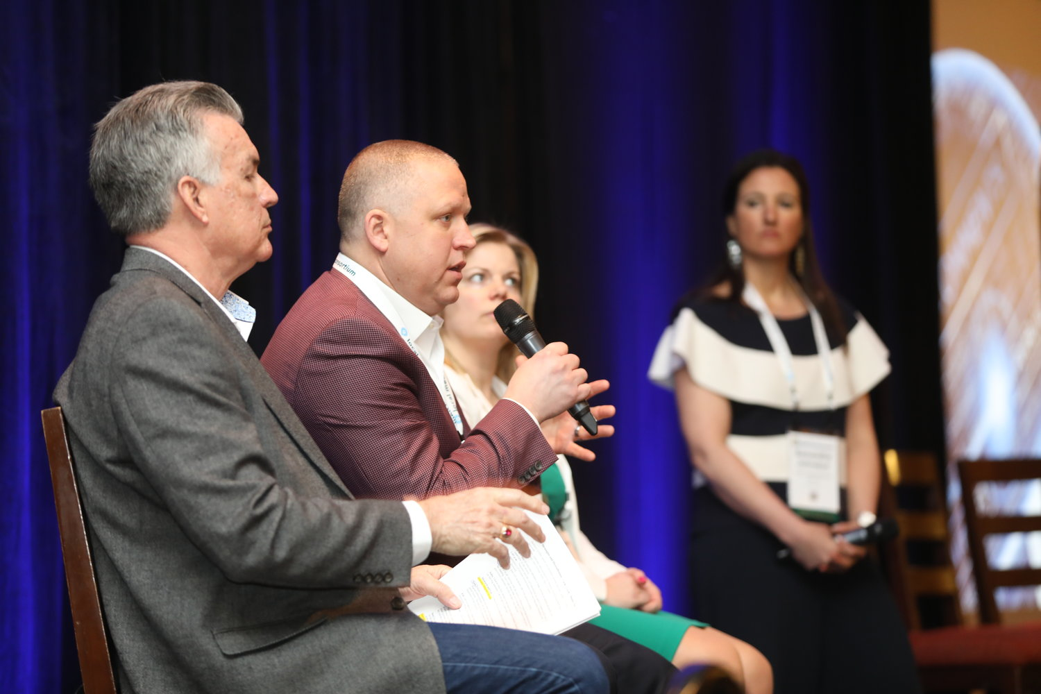 Revenue Strategies and Diversification: Howard Griffin, John Wulfert, Liz White and Samantha Johnston kick off the 2020 Mega-Conference. (Photo by Bob Booth)