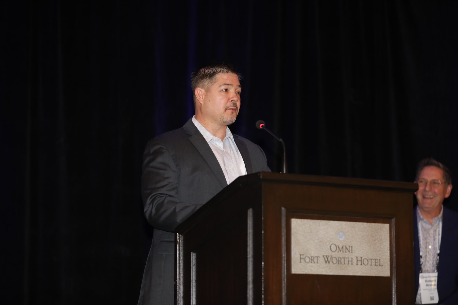 Ryan Mote, publisher of the Fort Worth Star-Telegram, welcome 2020 Mega-Conference attendees to Fort Worth! (Photo by Bob Booth)