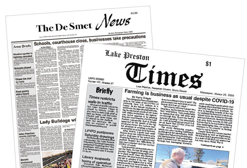 Before: The De Smet News and The Lake Preston Times
