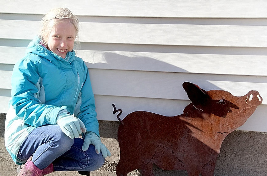 Addison Golinghorst, the daughter of Joe and Lindsay Golinghorst, has had a busy year serving as the lone ambassador for the Scott County Pork Producers.