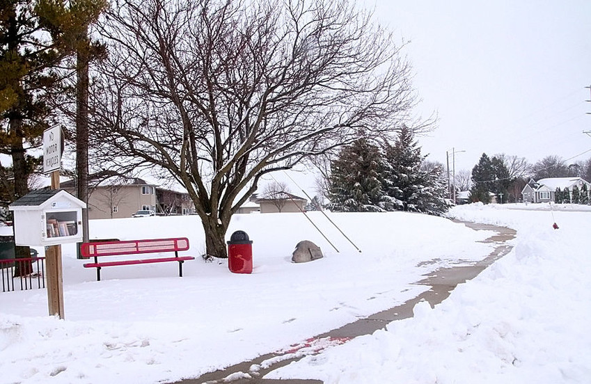 4 p.m. Saturday – Talk about a 24-hour turnaround. Saturday's snowstorm dumped between 8 and 10 inches on rural Scott County. The two photos, taken 24 hours apart, show the changing landscape along the bike path just south of Sheridan Meadows Park in Eldridge.