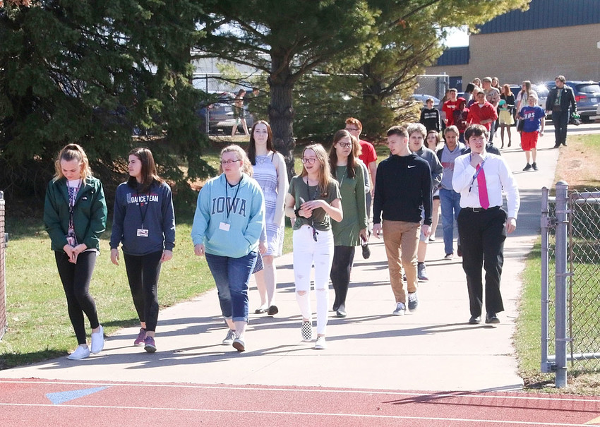 The North Scott student walkout.