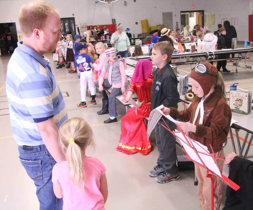 The gymnasium at Alan Shepard Elementary was filled with famous people on April 20.