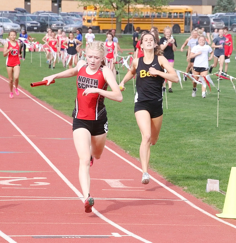 Lancer sophomore Abbi Lafrenz turned in a gritty anchor leg in the sprint medley relay as she brought the Lancers home in second place.