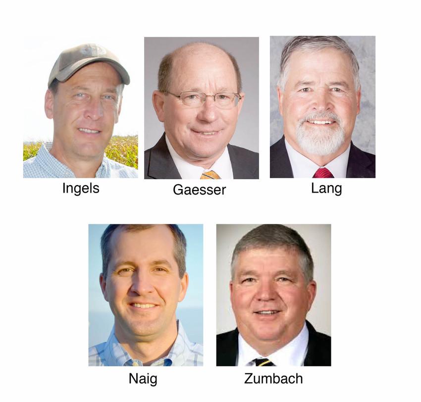 Chad Ingels, Ray Gaesser, Craig Lang, Mike Naig, Dan Zumbach