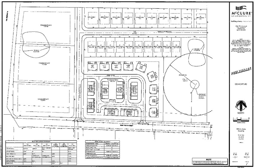 Wilton council members were given a concept of what new housing could look like near the yellow water tower on West Wate Street. Preliminary plans show up to 96 new housing units.