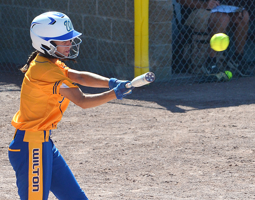 Mallory Lange hit a stand-up double to start the sixth inning but was stranded on the base paths. Wilton stranded eight runners in a 3-2 loss to top seeded L-M July 16.