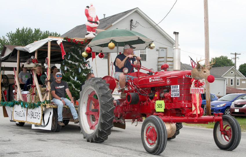 That's Rudolph atop the Farmall tractor.