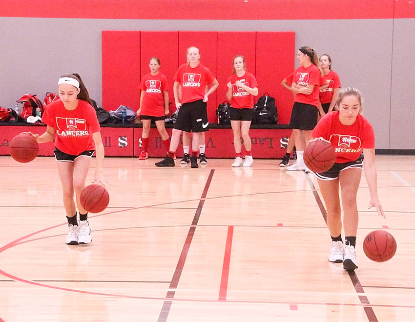 Under the direction of Lancer coach T.J. Case, and with the help of many volunteers, future Lancers spent a week honing their skills on the hardcourt.