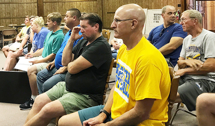 A crowd of around 20 gathered to hear discussion of whether to help with potential shortfalls associated with a proposed recreational center. After lengthy discussion, council voted 3-2 to support up to $150,000 in budget shortfall if such a facility is eventually built.