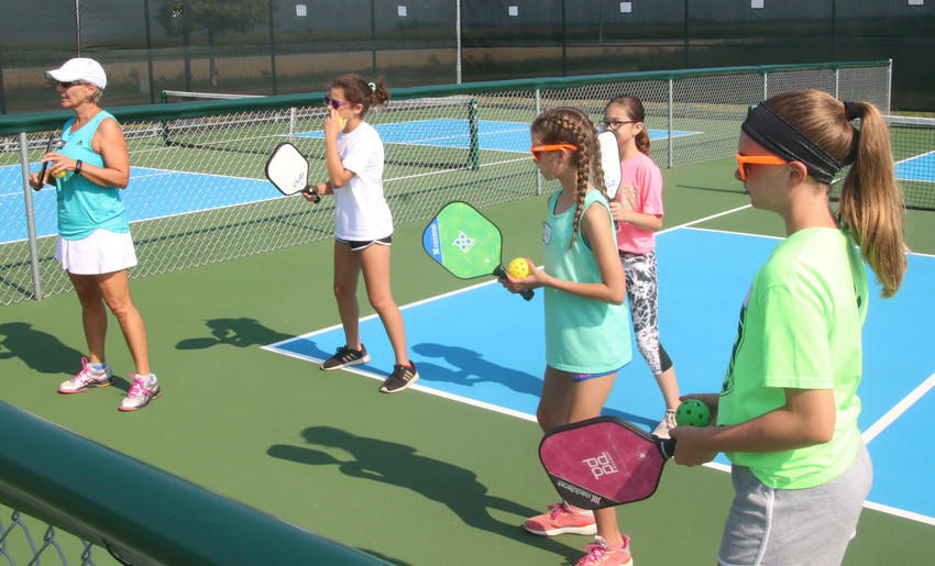 Nineteen youngsters took part in the first annual Youth Pickleball Camp sponsored by the Eldridge Park Board last month. Throughout the week, seven members of the Quad City Pickleball Club were on hand to give personalized instruction on pickleball technique and strategy.