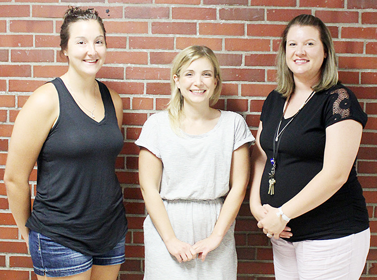 The Durant School District welcomes three new teachers for the 2018-2019 school year. Pictured from left, Suzanne Flexsenhar is the new fifth and sixth grade math and science teacher, Kristin Milotte is the new preschool through sixth grade counselor and Mindy Kahl was hired to be the school's at-risk interventionist.