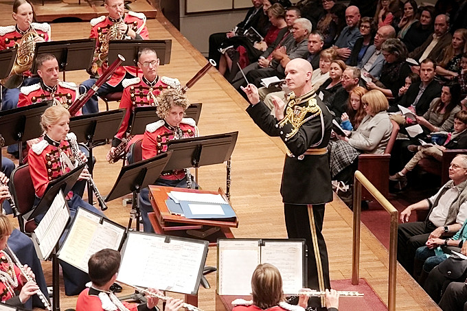 "On Nov. 10, 2017, the U.S. Marine Band and the National Symphony Orchestra presented a concert titled ""Notes of Honor."" The joint concert, held at the Kennedy Center Concert Hall in Washington, D.C., was conducted by Gianandrea Noseda and Col. Jason K. Fettig."