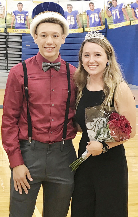 Wilton High School seniors Corey Anderson and Annabel Grings were named homecoming king and queen at the annual pep rally Sept. 19 held in the WHS gym. Corey is the son of Kristina Anderson. Annabel is the daughter of Brett and Sue Grings.
