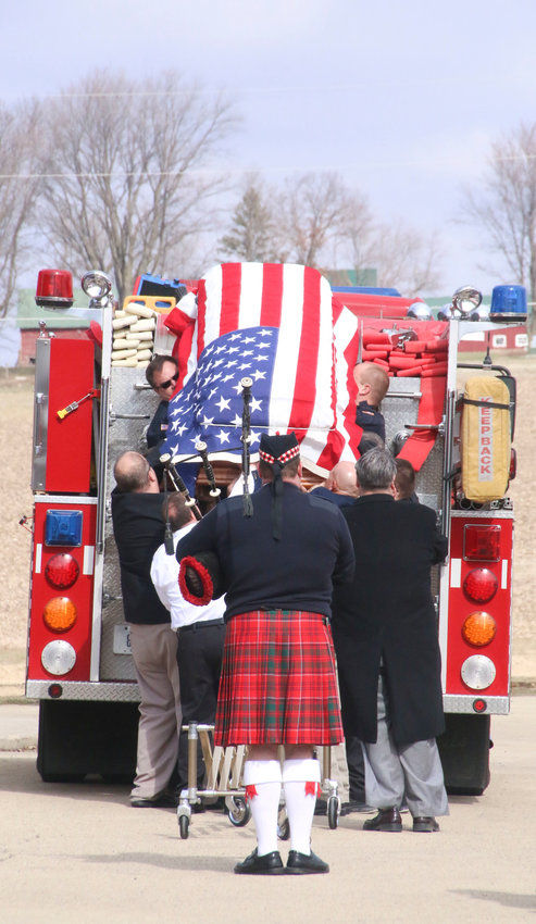 Long Grove firefighter Kevin Brix's funeral.