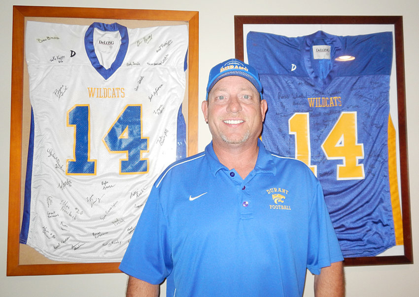 Former Durant head football coach Greg White is pictured above, in 2013 when he took over the varsity program. He served as head coach of the Wildcats until 2016. White died Oct. 3 after a battle with cancer. His obituary can be viewed on page 7.