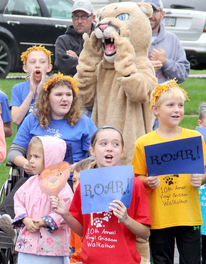 Pioneer house members won the cheer contest with a lion's roar.