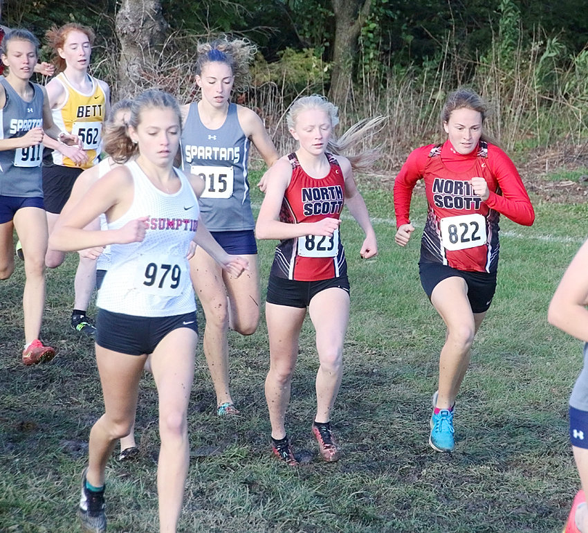 Abbi Lafrenz and Chloe Engelkes paced North Scott girls at the MAC meet. Lafrenz finished 10th, while Engelkes came home 15th.