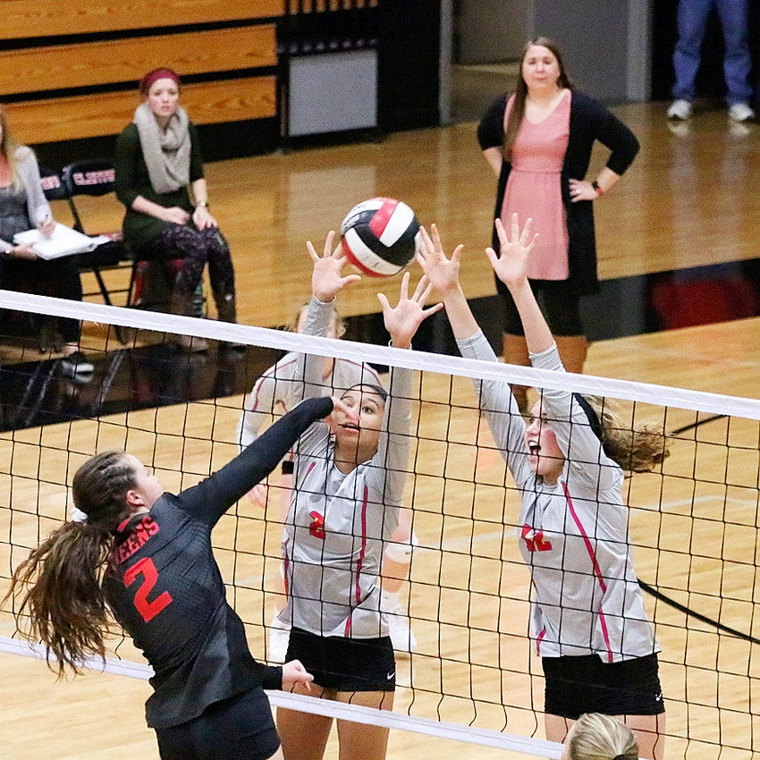 Freshman phenoms Grace Graham (2) and Ella McLaughlin played key roles in North Scott's 22-12 season, and are big reasons why the future looks bright for the Lancers.