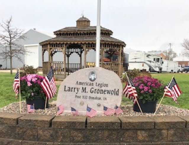 A new stone marks a memorial to Larry Gronewold, killed in the Vietnam War. Family and friends dedicated it at a Nov. 4 ceremony.
