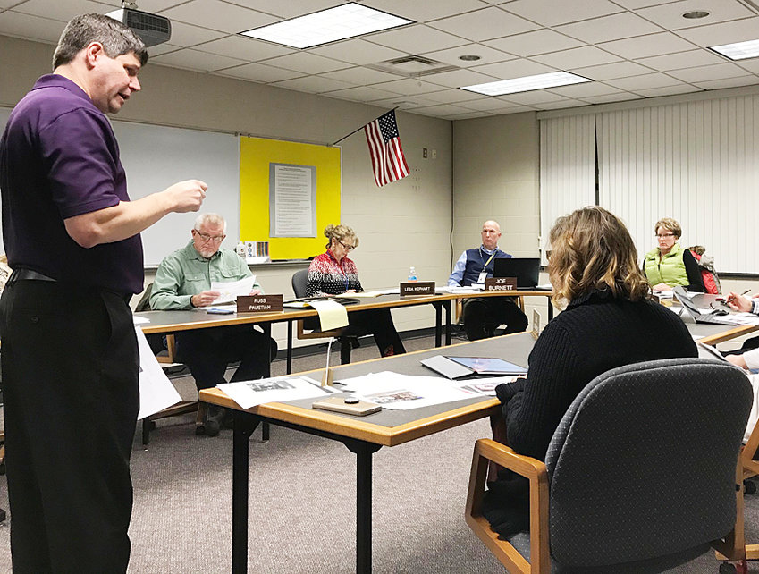 Joe Tursi of OPN Architects was on hand to speak with the Durant school board Dec. 10. The firm was selected to do a facilities assessment.