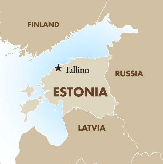 Estonia borders Russia and is a former Soviet republic with a population of 1.3 million, and land area one third the size of Iowa.