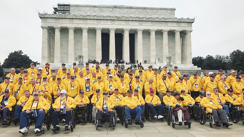 Former United Methodist Church pastor and Vietnam veteran Tom Zeleny visited Washington, D.C. on the 46th Honor Flight of the Quad Cities Oct. 25, joining a group of 87 other veterans and volunteer guardians.