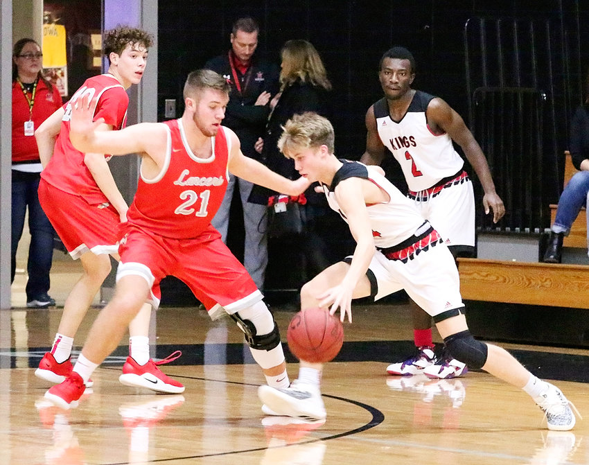 North Scott senior Reece Sommers turned in his best performance of the season against Clinton, and was effective on both ends of the floor.