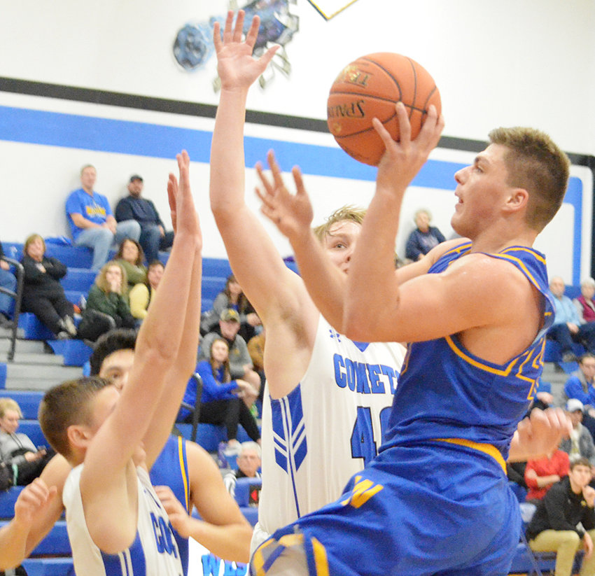 Wilton's Jared Townsend had 28 points, including making seven of eight free throws in the final moments, in a 55-50 win at West Liberty Jan. 8. The win was the first River Valley Conference win for the Beavers since the 2015-2016 season.