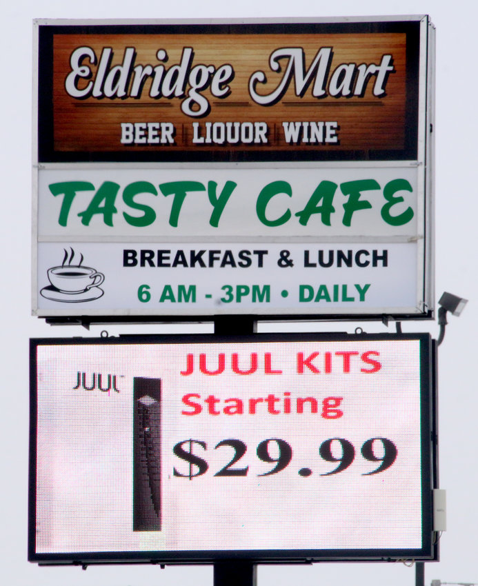 The Eldridge Mart is just one of many places offering the popular Juul kits.