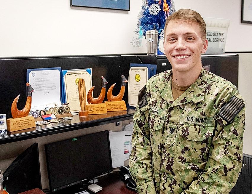 Navy Petty Officer 3rd Class Kalahan Baker