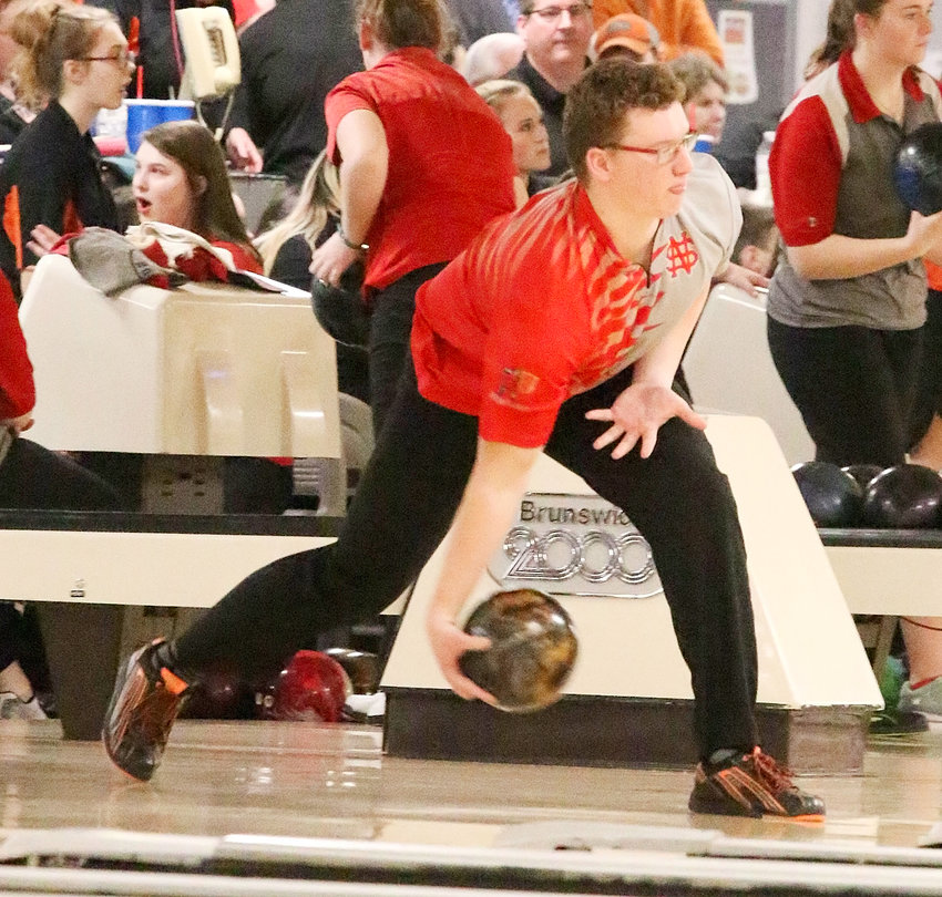 North Scott senior Isaac Neymeyer finished second in the state after bowling a 479 series, highlighted by a 255 game.