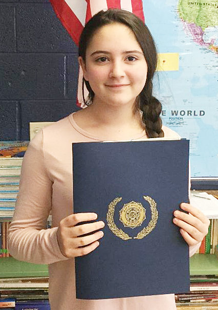 Durant seventh grader Alyssa Skriloff won the inaugural Durant American Legion middle school Constitutional essay contest.