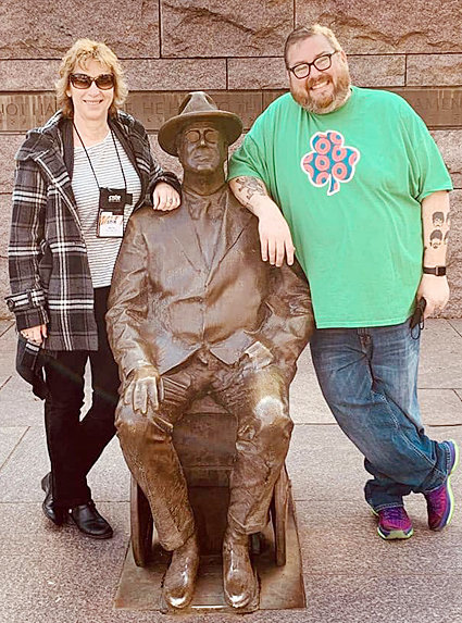 Marcia Hetzler (left) brought the Wilton eighth grade Washington, D.C. trip back this year, which included a group of seniors who never got to go when they were in eighth grade. Pete Duytschaever also attended from the school system and took great photos along the way.